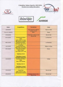 calendrier ligue oct nov dec 2015